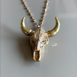 Jewelry - Bull horns long necklace.
